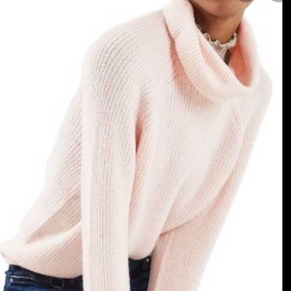 Topshop Blush Pink Oversized Sweater